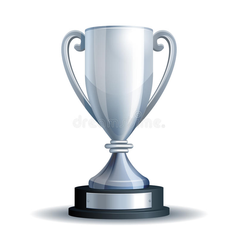 придайте форму чашки серебряный трофей иллюстрация вектора