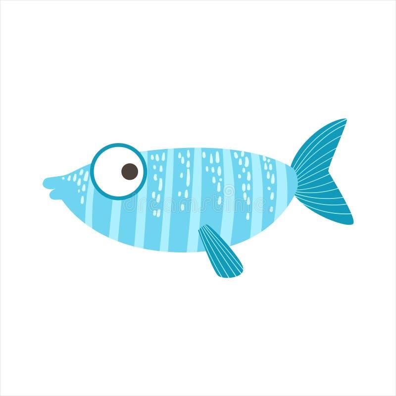 Придурковатые Stripy голубое и светлый - голубые фантастические красочные рыбы аквариума, животное тропического рифа акватическое бесплатная иллюстрация