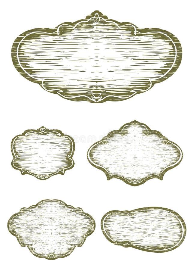 Пробелы знака Woodcut иллюстрация штока