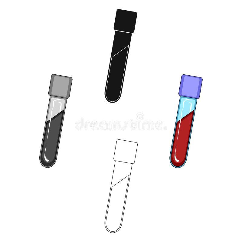 Пробирка с кровью r иллюстрация вектора