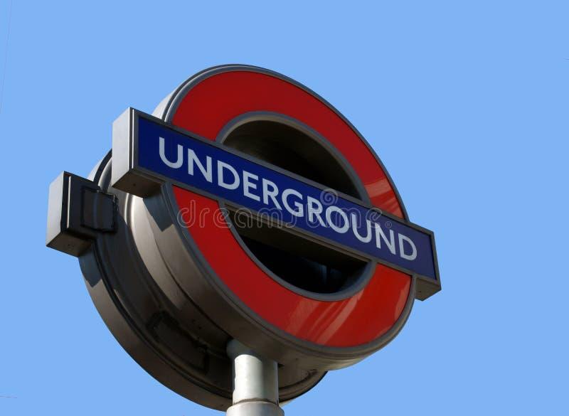 пробка знака london подземная стоковое изображение rf