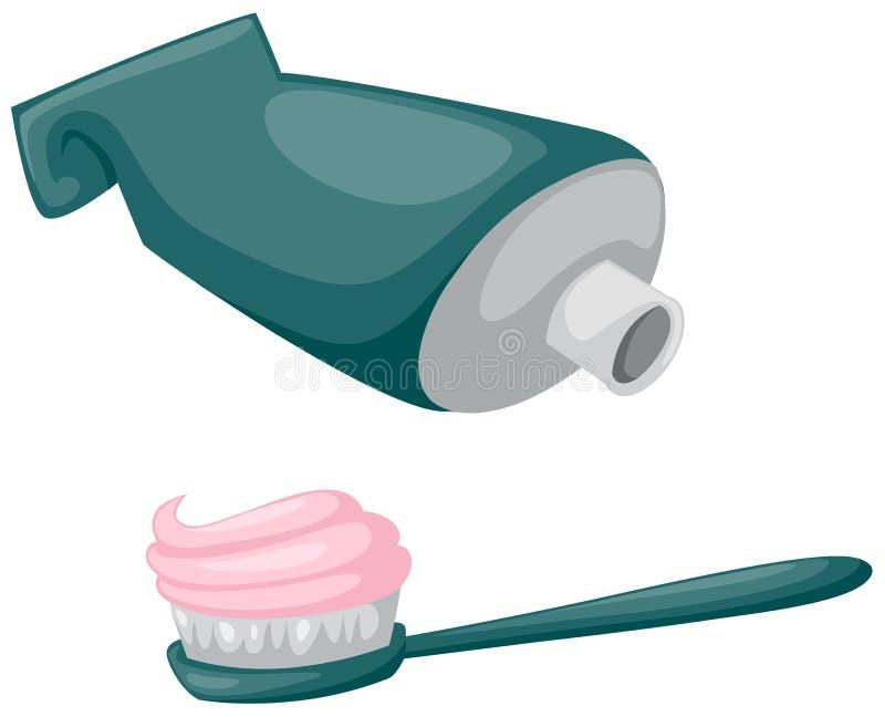 пробка зубной пасты зубной щетки иллюстрация штока