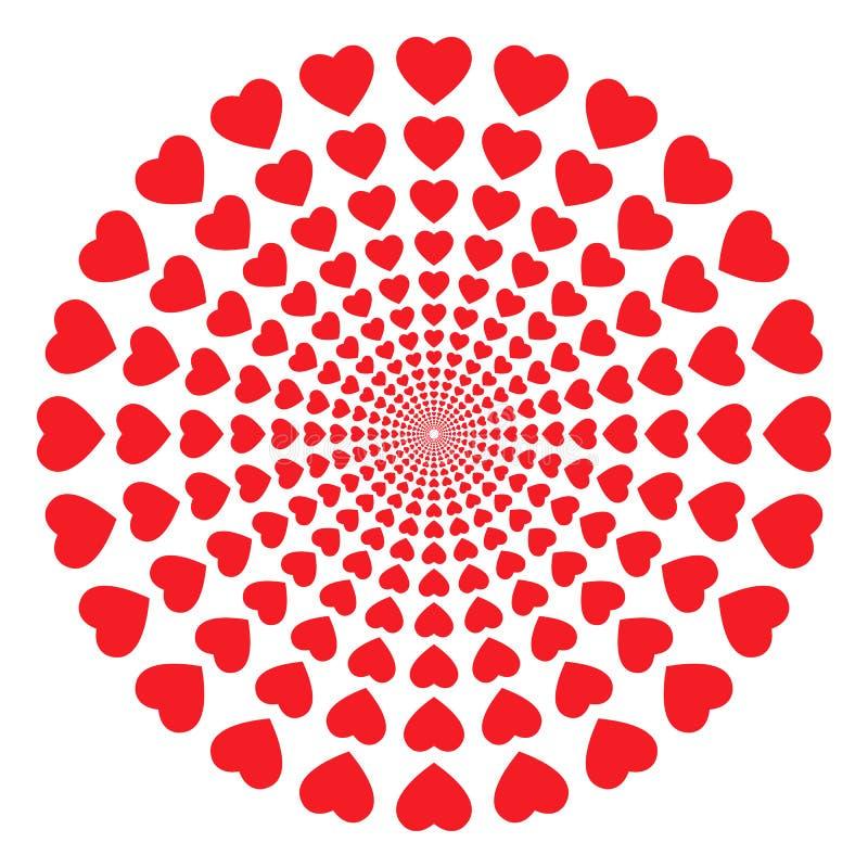 пробка сердец иллюстрация вектора