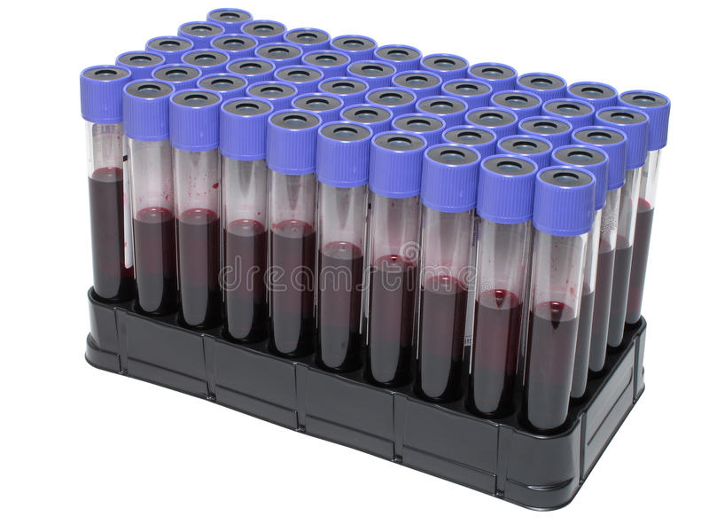 пробки анализа крови вакуумируют venipuncture стоковые фотографии rf