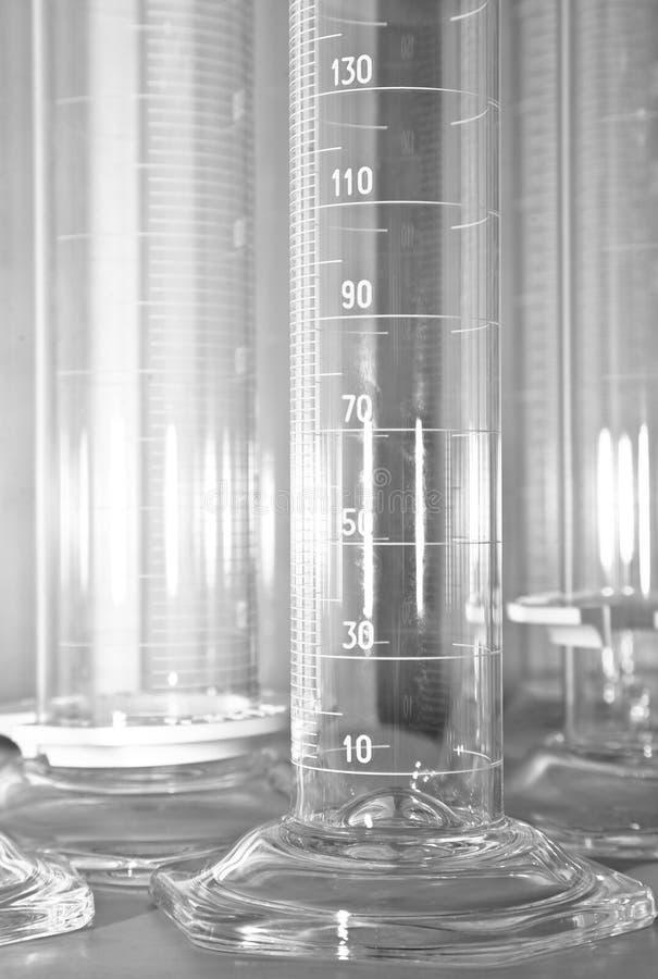 пробки лаборатории измеряя стоковое фото