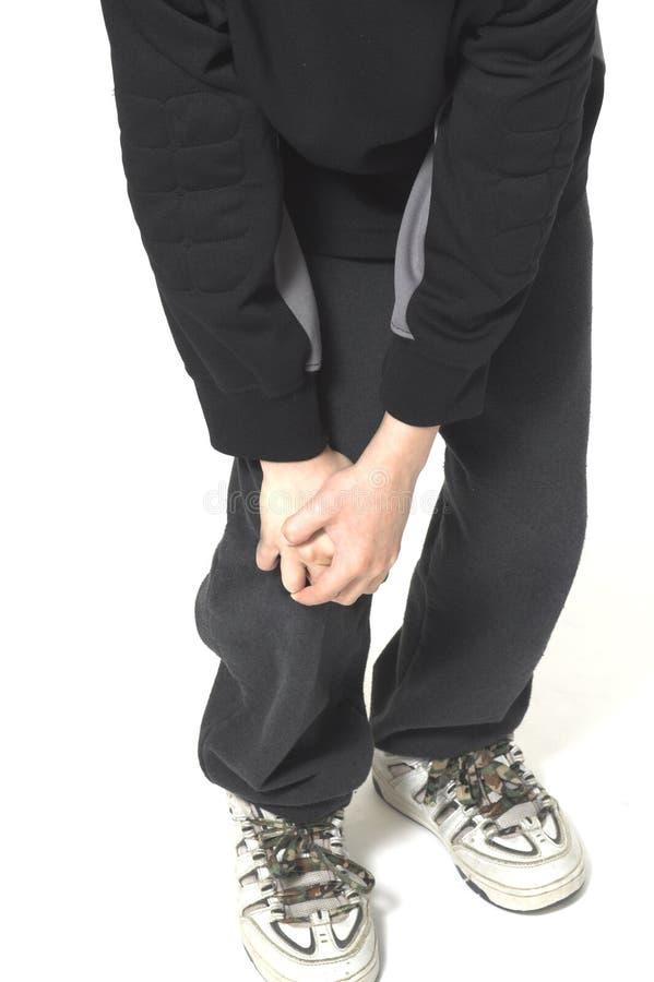 проблема колена стоковое фото rf