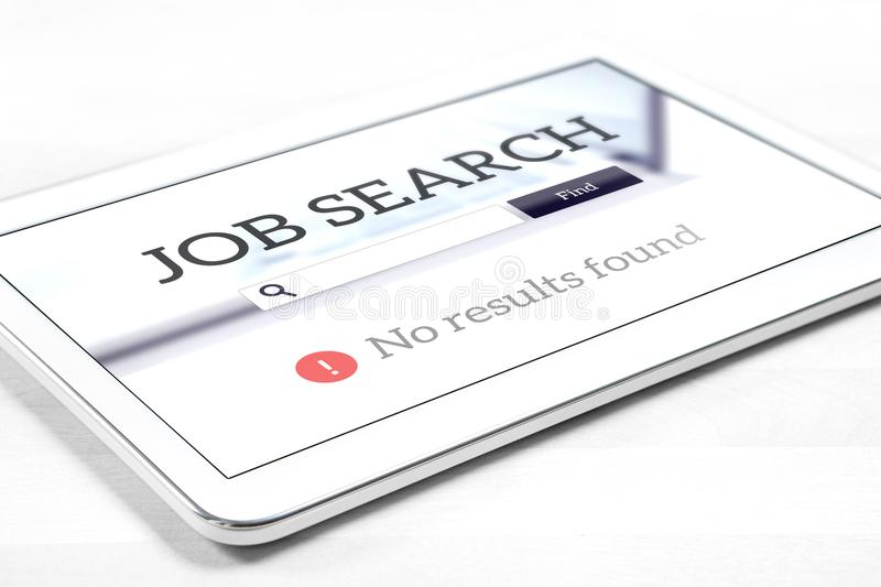 Проблема поиска безработицы и работы стоковая фотография rf