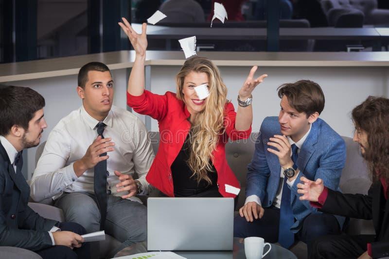 Проблемы на деловой встрече стоковое изображение