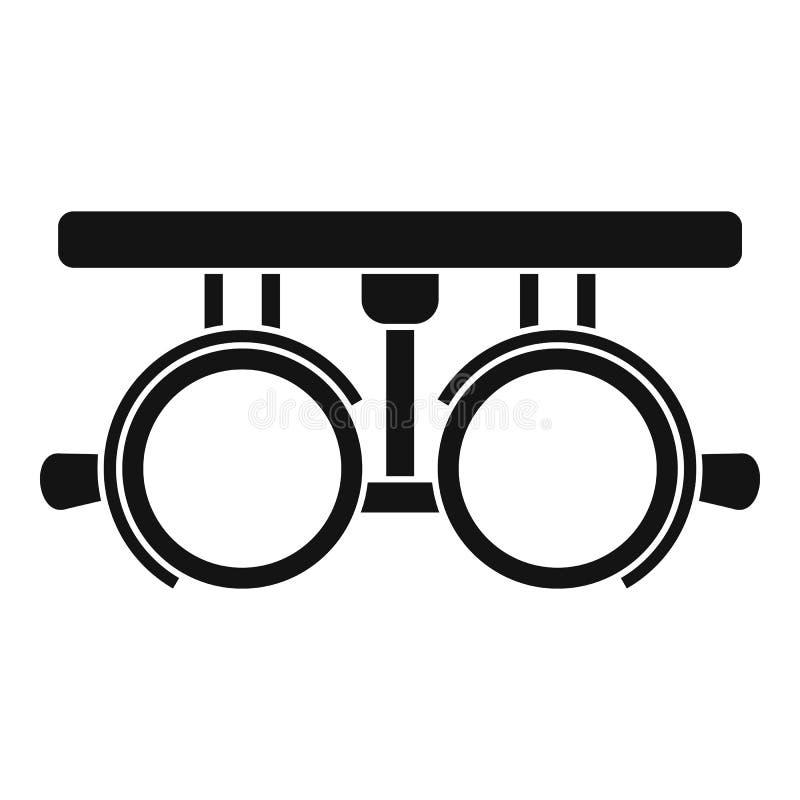 Пробная рамка для проверять терпеливый значок зрения иллюстрация вектора