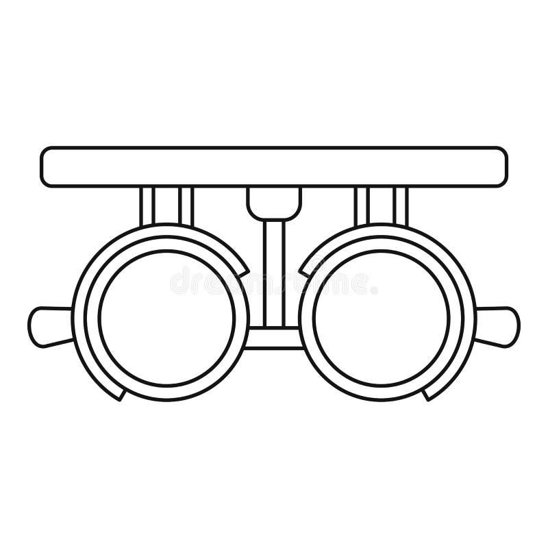 Пробное lense обрамляет значок, стиль плана бесплатная иллюстрация