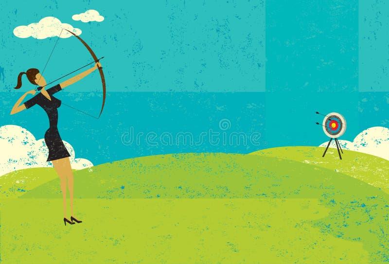 Пробовать ударить глаз bull's бесплатная иллюстрация
