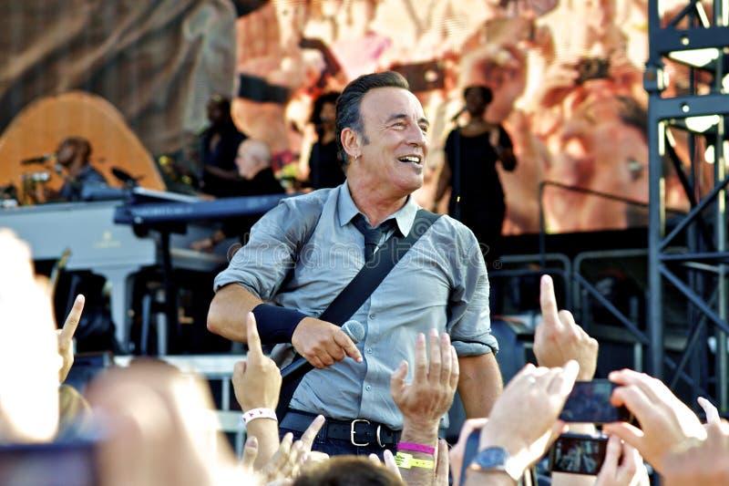 Пробочка 2013 Брюс Springsteen стоковое изображение rf
