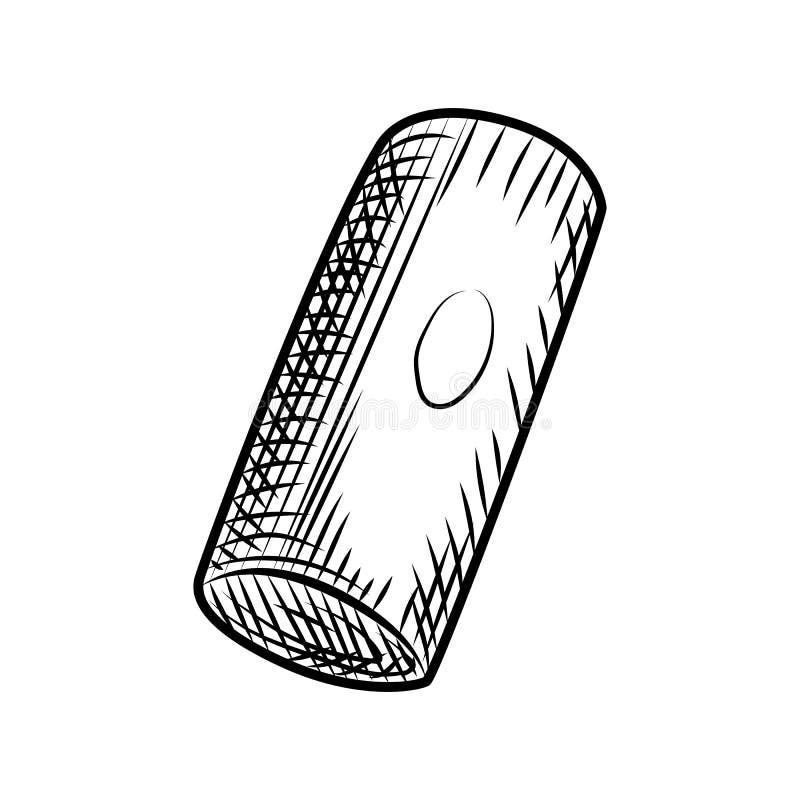Пробочка бутылки вина виноградин Затворы пробочки изолированные на белой предпосылке иллюстрация вектора