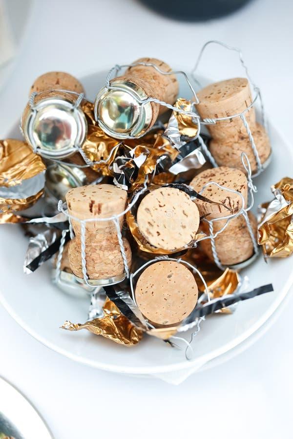 пробочки шампанского стоковые изображения rf