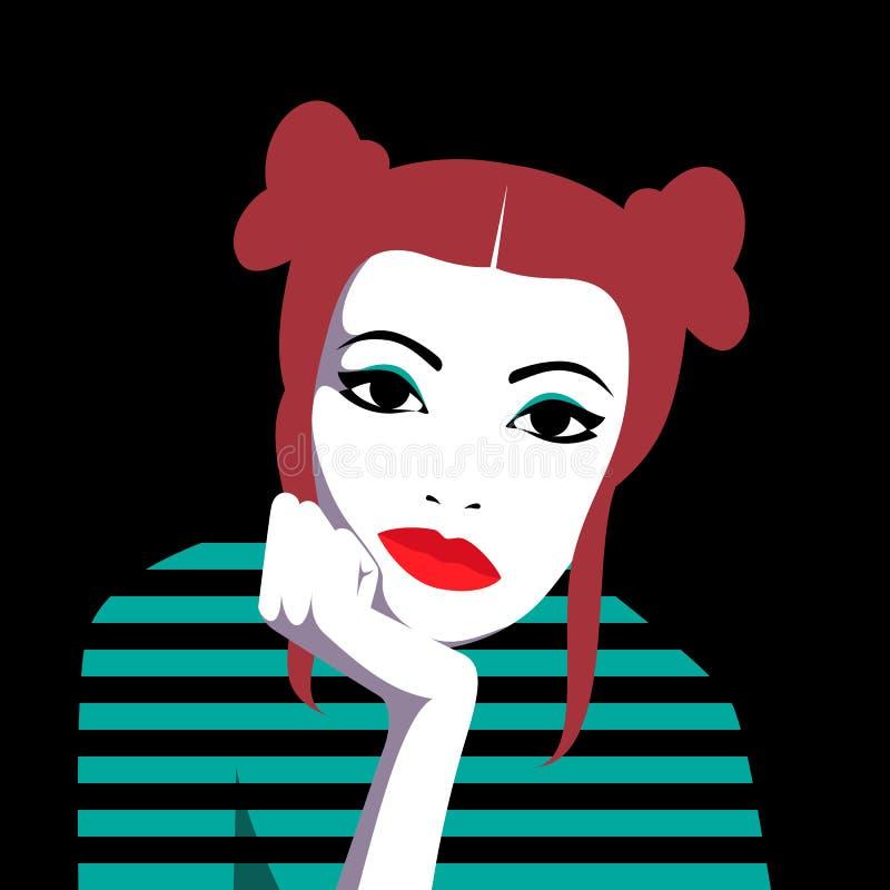 Пробуренная девушка redhead бесплатная иллюстрация