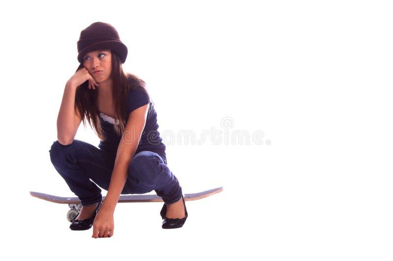 пробуренный конькобежец девушки стоковое изображение