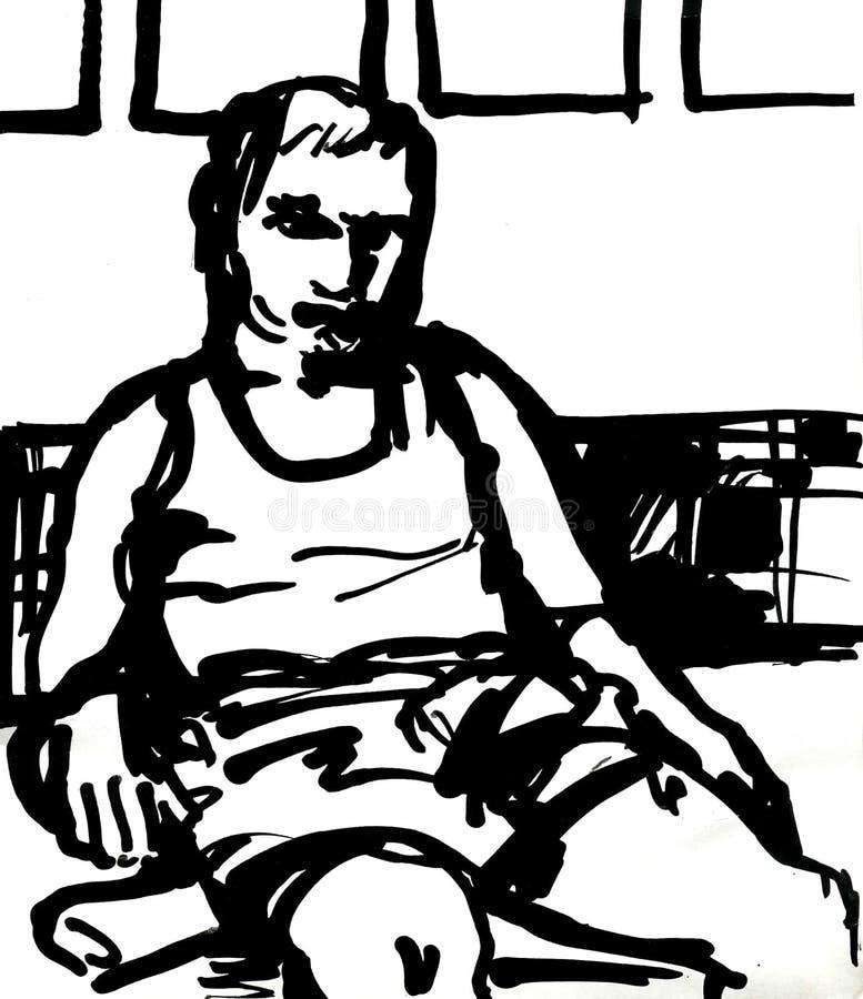 пробуренный человек бесплатная иллюстрация