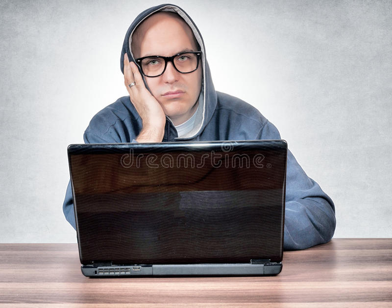 Пробуренный человек стоковое изображение