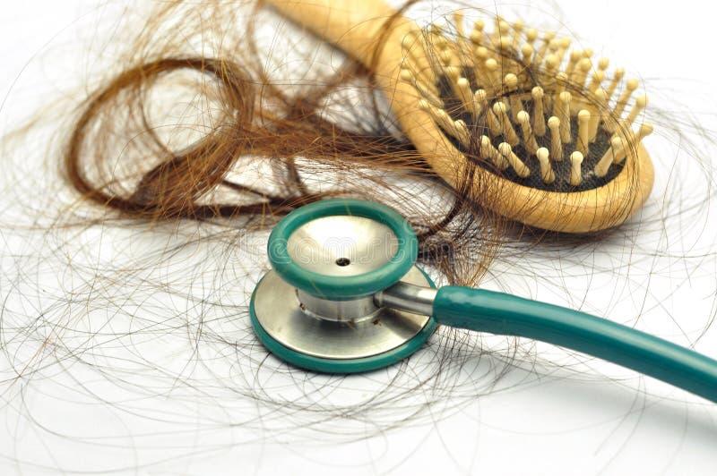 Проблема выпадения волос стоковое фото rf