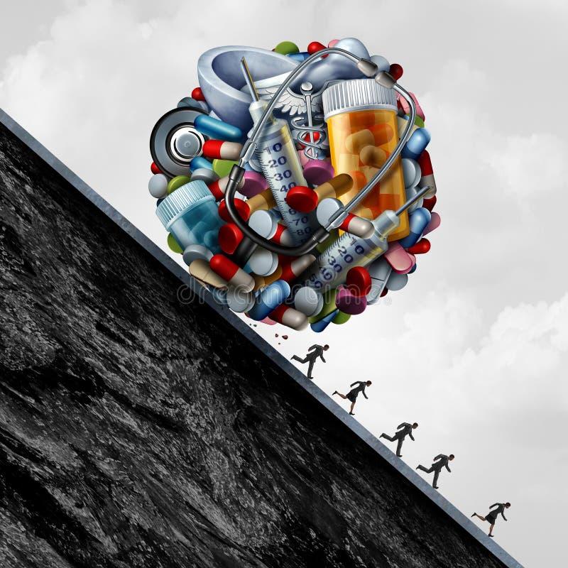 Проблема системы здравоохранения иллюстрация штока
