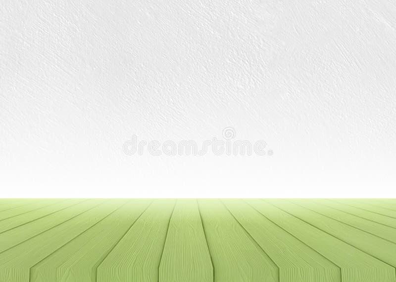 Прованская текстура пола древесной зелени бетонной стены стоковые фотографии rf