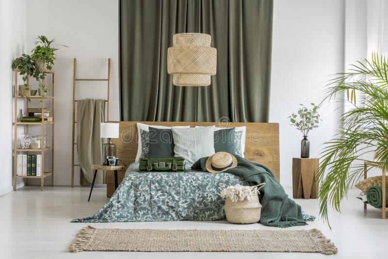 Прованская ткань в спальне стоковое изображение