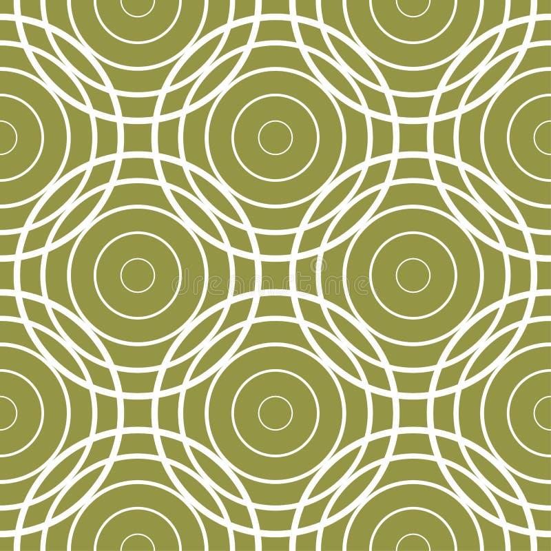 Прованский орнамент зеленого цвета и белых геометрический картина безшовная иллюстрация штока
