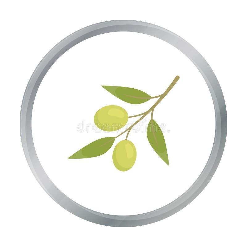 Прованский шарж значка Подпалите значок овощей от шаржа еды eco иллюстрация вектора