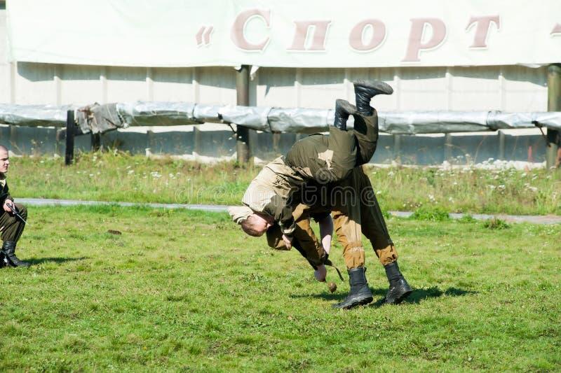 Проведения демонстрации специальных войск стоковые фотографии rf