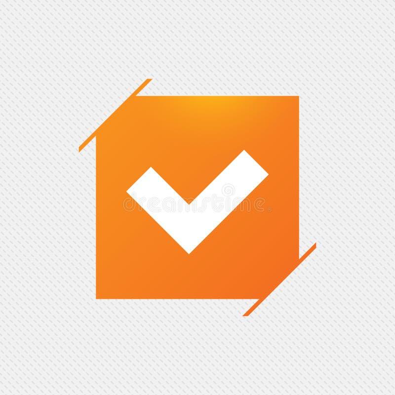 Проверите значок знака button yes иллюстрация вектора