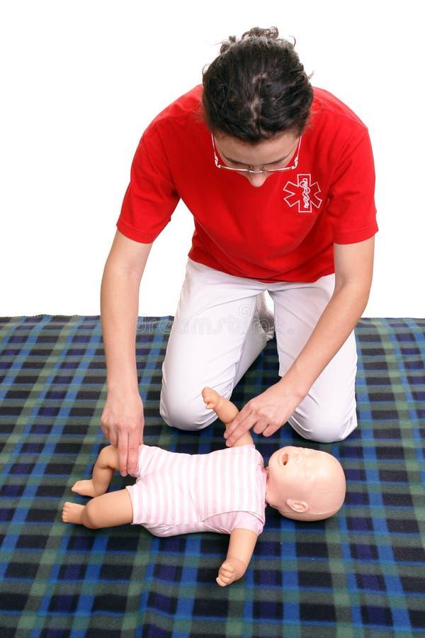 проверите ИМП ульс младенца демонстрации стоковое изображение rf