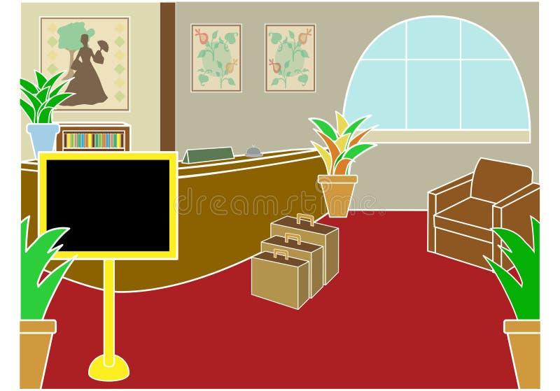 проверите лобби гостиницы иллюстрация вектора