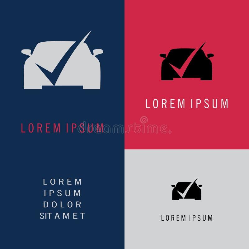 Проверите логотип автомобиля иллюстрация штока