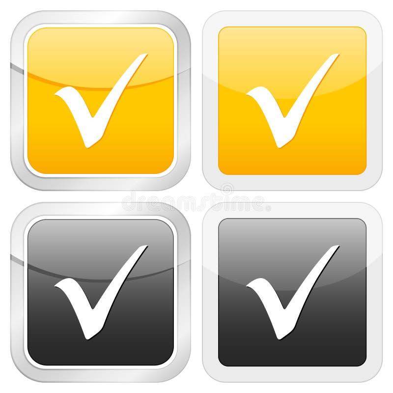 проверите символ иконы квадратный иллюстрация штока