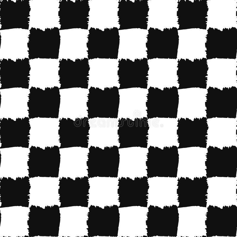 Проверите черно-белую безшовную картину иллюстрация вектора