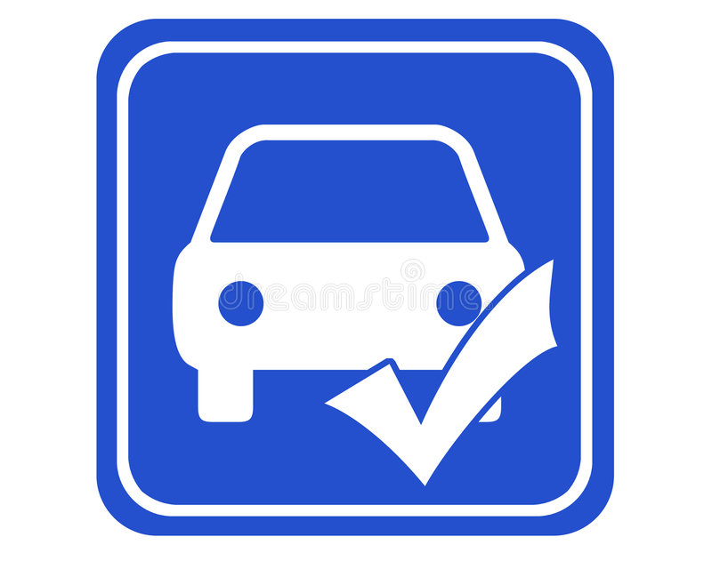 проверка автомобиля иллюстрация вектора
