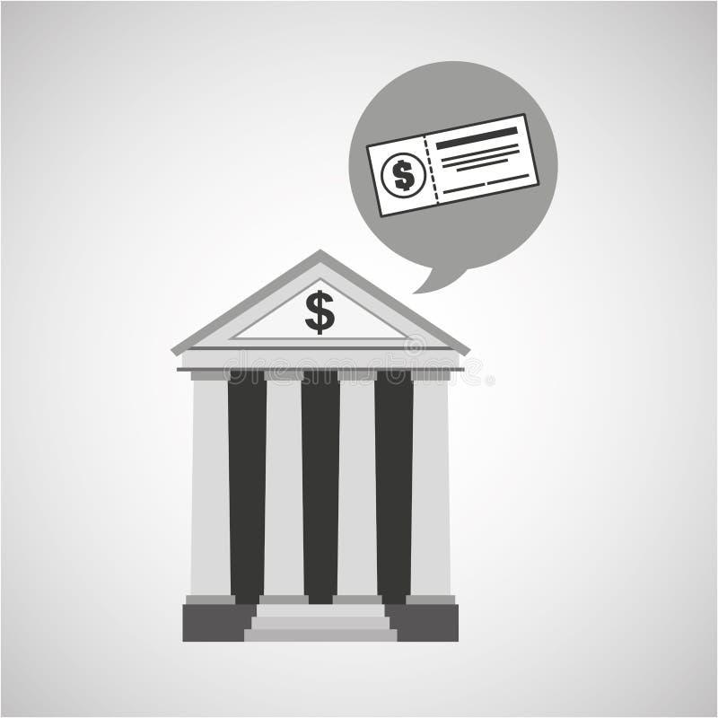Проверка денег экономики банка здания бесплатная иллюстрация