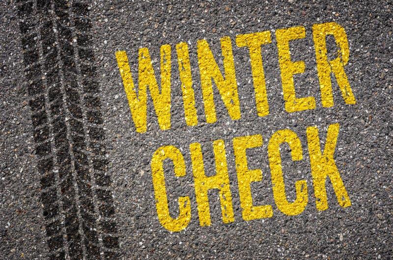 Проверка зимы стоковая фотография