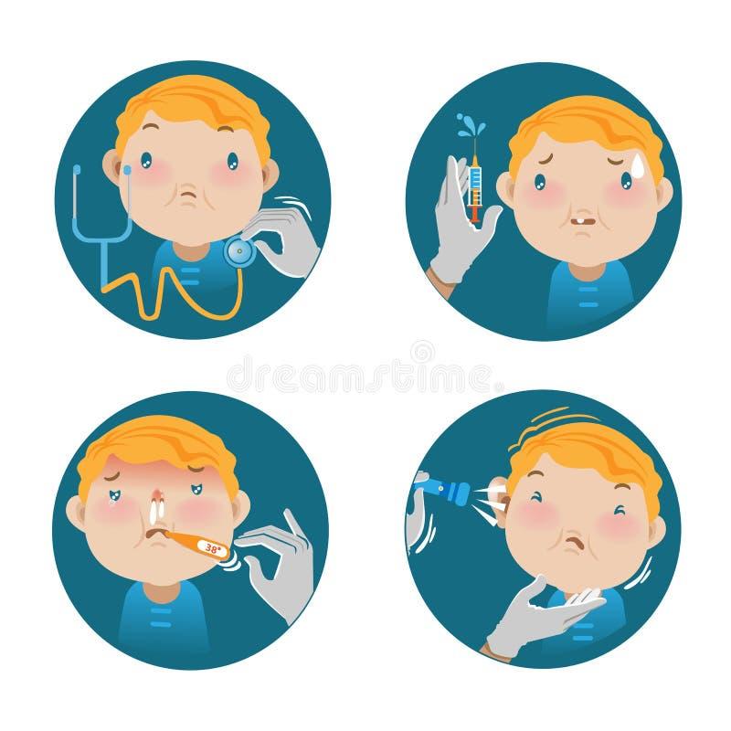 Проверка здоровий детей иллюстрация штока
