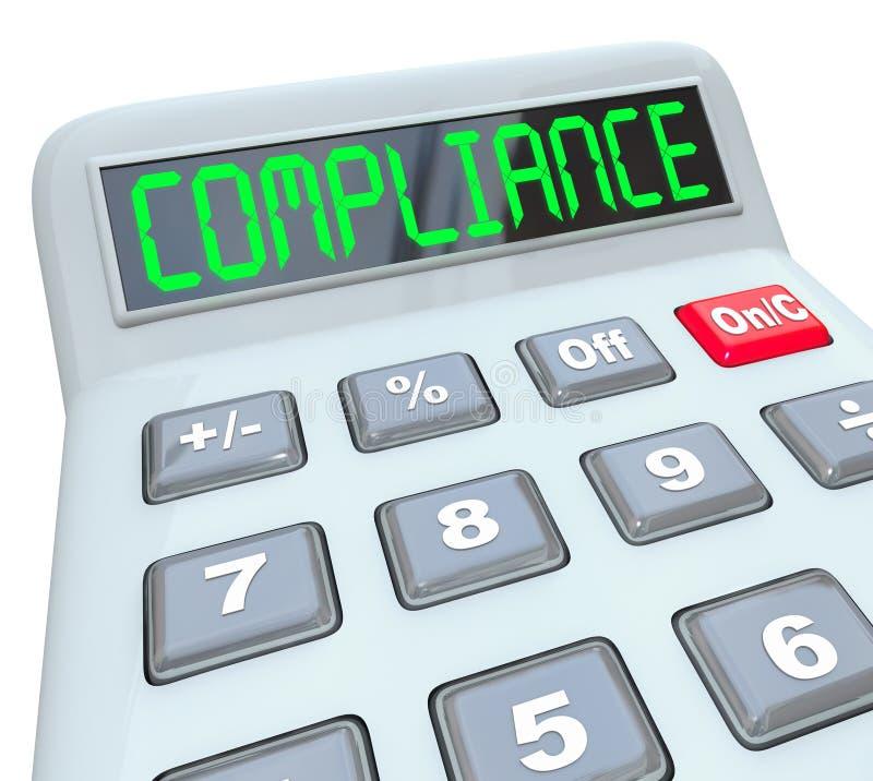 Проверка Calcualtor слова соответствия учитывая финансовая иллюстрация вектора