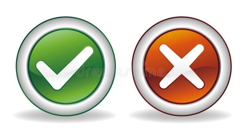 проверка cancel кнопки иллюстрация штока