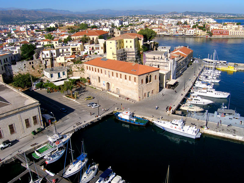 Проветрите фотоснимок, город Chania, старый городок, Крит, Грецию стоковые изображения