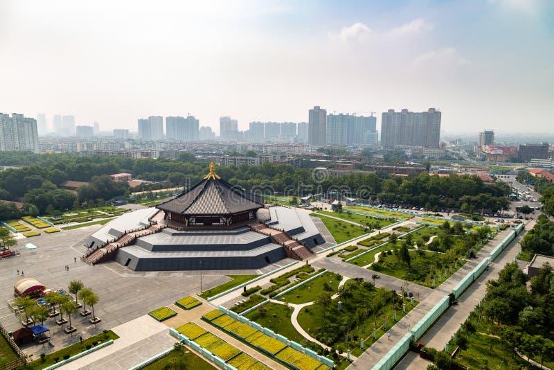 Провинция июля 2017 - Лояна, Хэнаня, Китай - тянь Ming или Hall прозрения стоковые фотографии rf