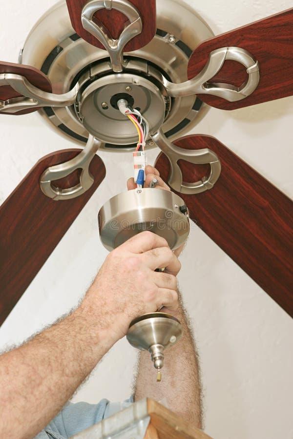 проводка вентилятора потолка стоковое фото rf