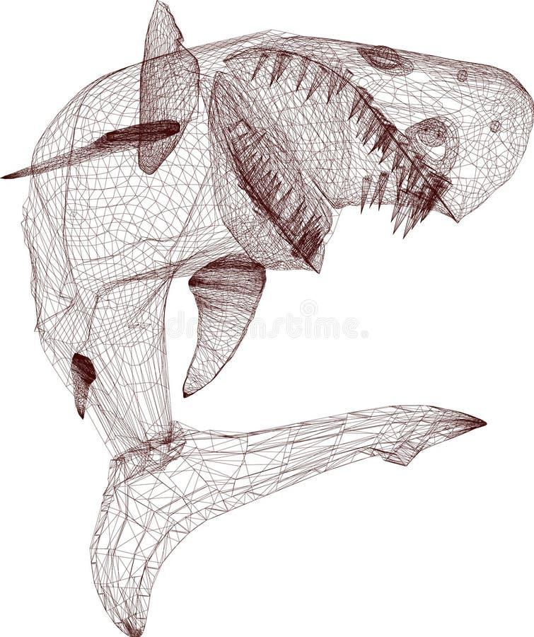 провод акулы иллюстрация штока