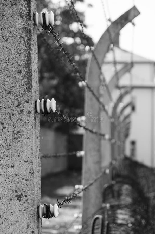 Провод бритвы в концентрационном лагере Sachsenhausen стоковые фото
