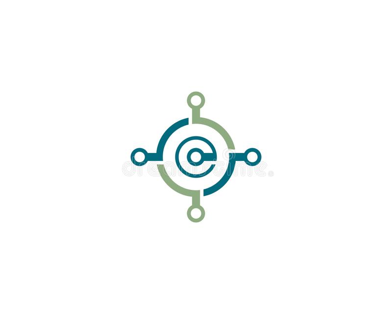 Провод, значок логотипа кабеля иллюстрация вектора