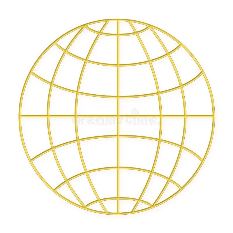 провод золота глобуса рамки иллюстрация штока