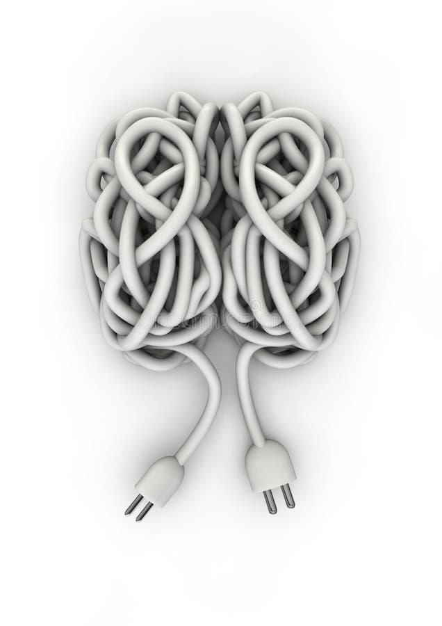 провод мозга иллюстрация вектора