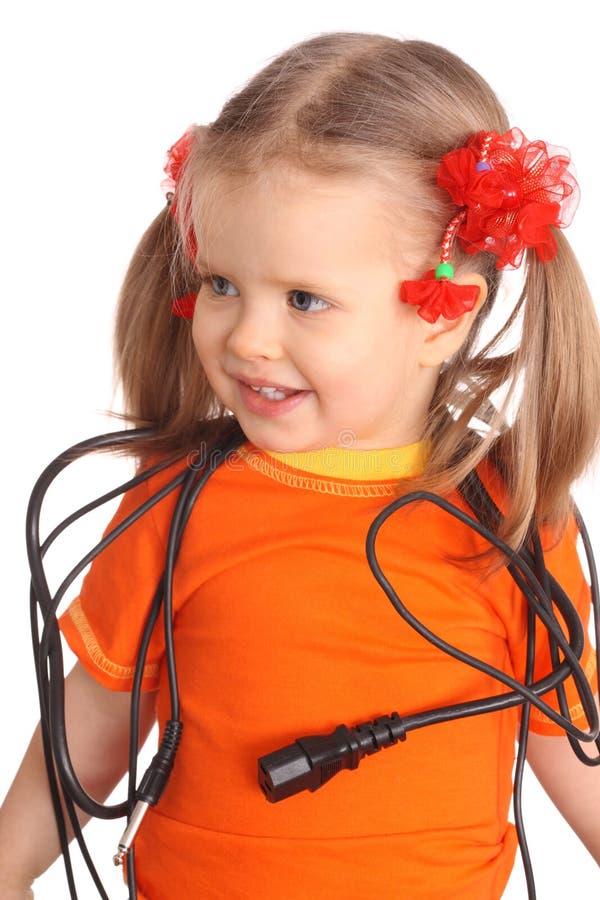 провод рубашки t ребенка померанцовый стоковое изображение